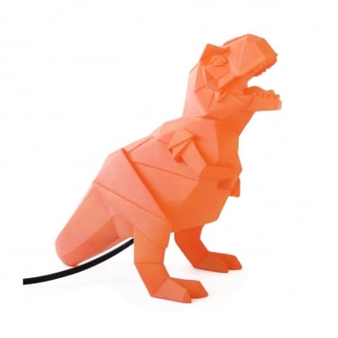 Geometrisk LED T-Rex Lampe - Orange