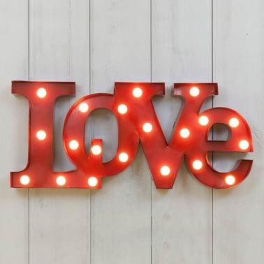 Metal L.E.D. Circus Lights LOVE - Red
