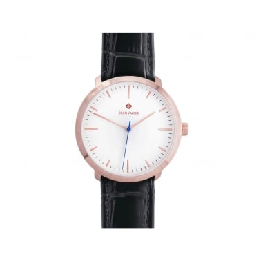 Unisex London Classic Ur 40mm i Rosenguld med sort rem