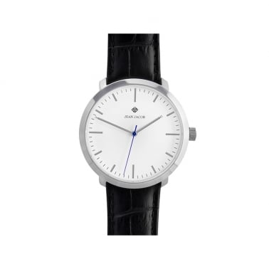 Unisex London Classic Ur 40mm I Sølv med sort rem